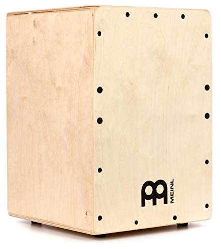 Meinl Cajon Box Drum with Internal Snares - MADE IN EUROPE - Baltic Birch Wood, Compact Size, 2-YEAR WARRANTY (JC50B) by Meinl Percussion