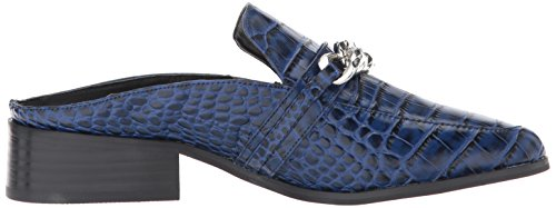 Steven By Steve Madden Womens Swanki Slip-on Loafer Blue Crocodile