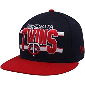 best loved b4cc5 c3c0d ... ebay mlb new era minnesota twins navy blue red word stripe 9fifty  snapback adjustable hat e5ea7