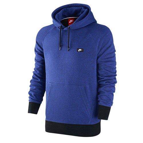 Nike AW77 French Terry Shoebox Men's Hoodie 678564-480 Game Royal Medium
