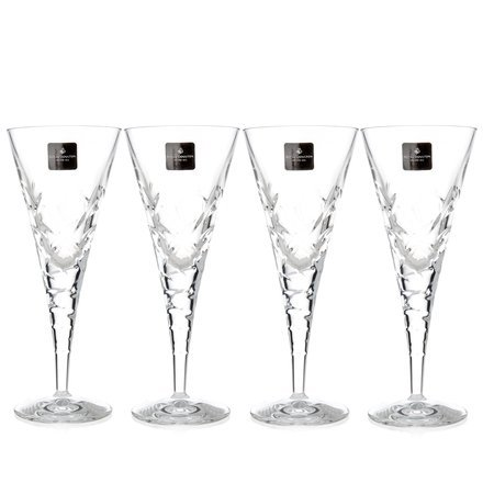 Royal Doulton Crystal Glasses, Set of 4 Goblets 260 Ml. (Central Park Collection) by Waterford