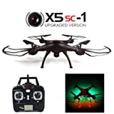 JMAZ Syma X5SC-1 Explorers Upgraded Version RC Quadcopter Drone 4CH 6-Axis 2.4G Gyro Drone 2MP HD Camera Black For Sale