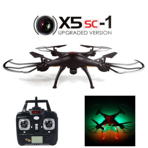 JMAZ Syma X5SC-1 Explorers Upgraded Version RC Quadcopter Drone 4CH 6-Axis 2.4G Gyro Drone 2MP HD Camera Black