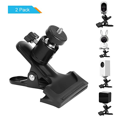 LANMU Clamp Mount for Wyze Cam Pan,Desk Mounting Holder Stand for Arlo Baby Monitor,Oculus Sensor,HTC Vive Base Station,Arlo Camera and Other Compatible Home Security Camera (Black,Pack of - Desk Kit Clamp Mount