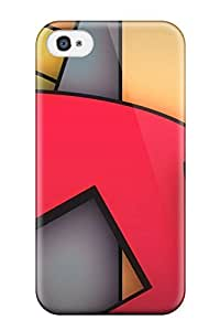 Premium Protection Funky Geometrics Case Cover For Iphone 4/4s- Retail Packaging