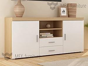 2 doors 2 drawers sideboard cupboard 145 cm tv cabinet for B q living room doors