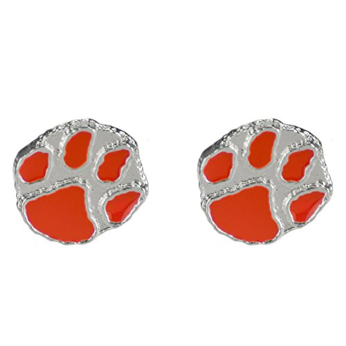 SANDOL Clemson Tigers Logo Stud Earrings (Clemson Paw Earrings University)