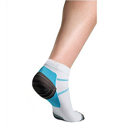 3 Pairs Sport Plantar Fasciitis Arch Support Low Cut Running Gym Compression Foot Socks / Foot Sleeves