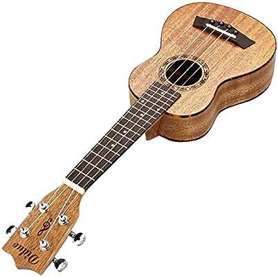 XZANTE Ukulele de 21 Pulgadas Hawaii 4 Cuerdas Guitarra Caoba Palo ...