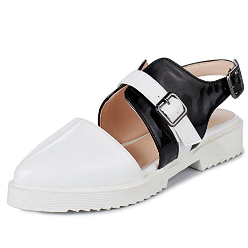 COOLCEPT Damen Mode Sommer Geschlossene Schuhe White