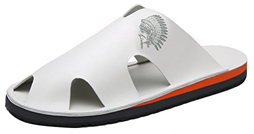 CFP K37 Mens Casual Clogs Slippers Cool Leisure Antiskidding Comfy Fresh Open Back Sandals White