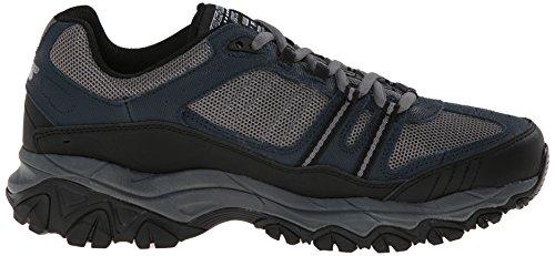 Skechers Sport ¨ Afterburn Grà ve Memory Foam Lace Sneaker up Multicolor - Navy/Gray