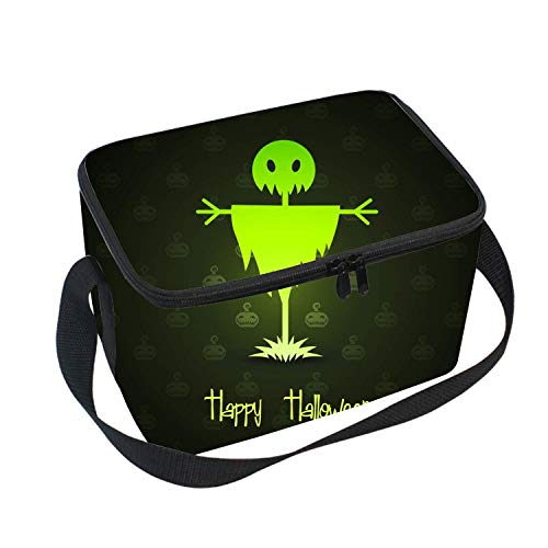 Zofmkgdji Insulated Lunch Box Lunch Bag for Adults Men/Women/Kids Water Resistant Leakproof Cooler Bento Bag - Scarecrows For Halloween Handbag for School Office