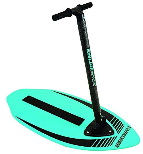 D6Surf 54320 - Surfboard, Surfbrett, Skimboard mit Handgriff, 2-in-1 Spass, blau/grün