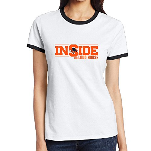 Women's Two-toned T Shirt-Particular Inside Cartoon TV Show Black SizeXXL (Ernie The Elf)