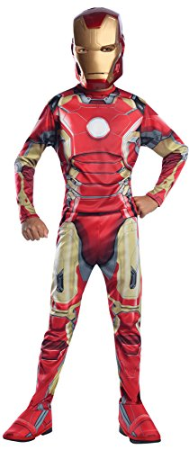UHC Boy's Iron Man Mark 43 Superhero Outfit Kids Halloweem Costume