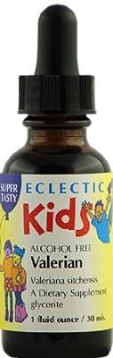 Kids Valerian No Alcohol Glycerite Eclectic Institute 1 oz Liquid