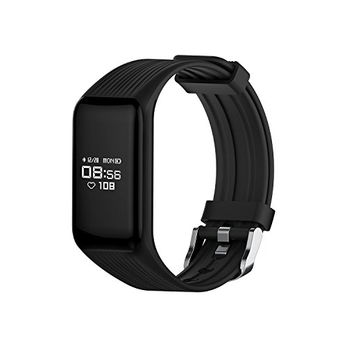 Long Run Technologies Combatible with iPhones and Android Smart Phones Smart Band: Heart Rate Monitor Fitness Activity Tracker Watch Step Walking Sleep Counter Wireless Wristband Exercise Tracking by Long Run Technologies