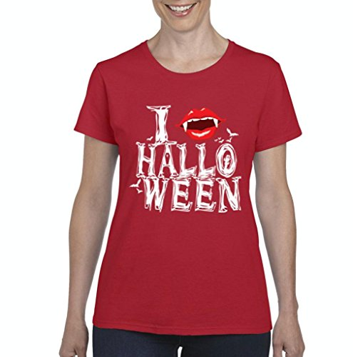 Xekia I Love Halloween Fashion Zombie Fashion Party People Best Friends Couples Gifts Women's T-shirt Tee Clothes XXX-Large -
