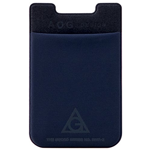 AOG DESIGN Ultra Slim Stick On Adhesive Credit Card Wallet, Card Holder for Smartphones (Deep - Style Com Burberry