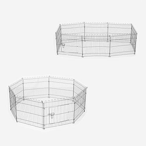 Pawhut recinto per cani gatti cuccioli roditori recinzione for Recinto per cani amazon