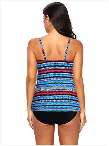 Xl Bassa Warm Scollata Due Stampa Bagno colore Creativo Vita Bikini Pezzi Da Dimensione Scollatura Home Donna Sexy A Blu Costume BprpqHRZ