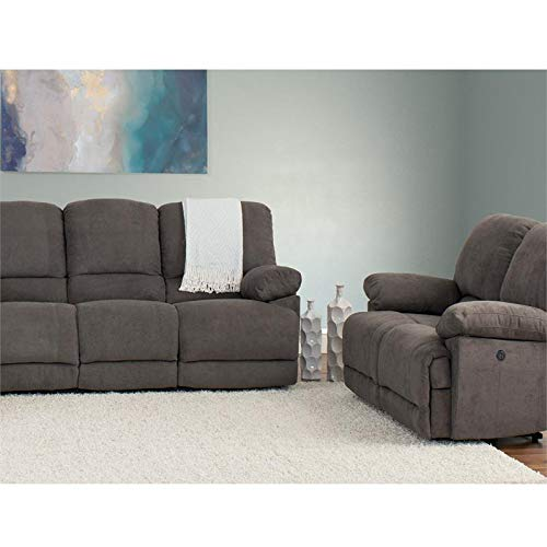 (CorLiving LZY-332-Z2 Lea Collection Reclining Sofa Set, Grey)