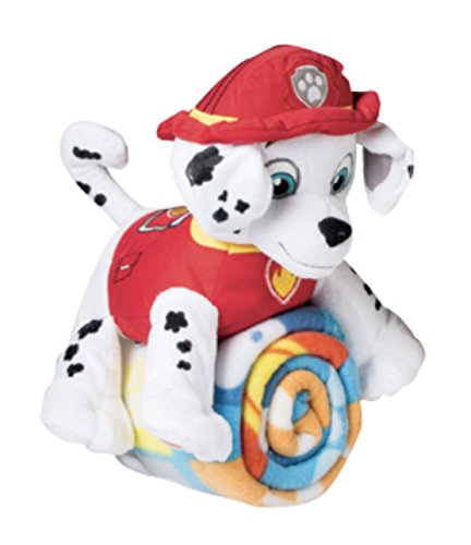 Nickelodeon Kids Paw Patrol Fleece Throw Blanket & Marshall Cuddle Plush Toy - ()