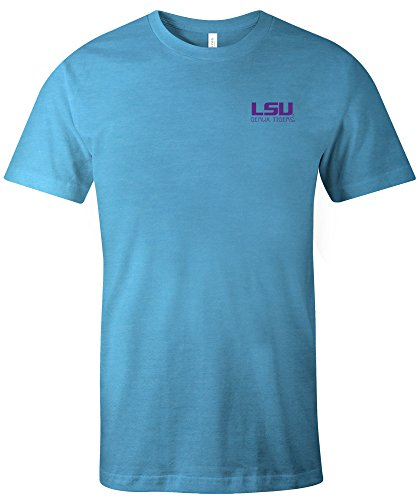 NCAA LSU Tigers Adult Unisex NCAA Aztec Square Short sleeve Triblend (Lsu Tigers Square)