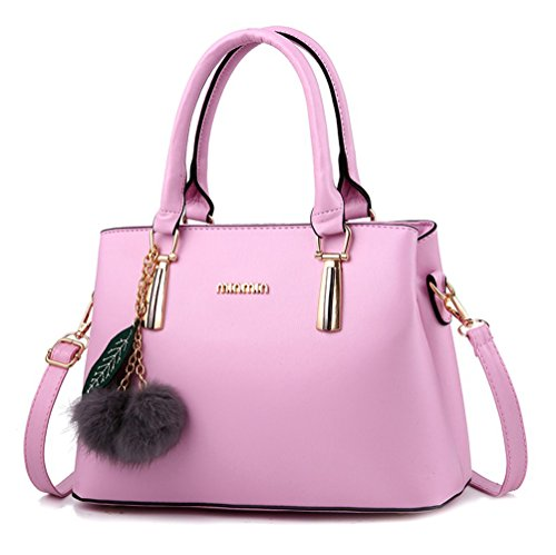 Pink Leather Handbags - 7