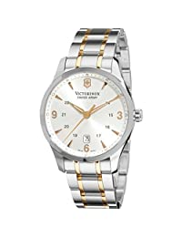 Men Swiss Army 241477 Alliance Alliance Two Tone Stainless Steel Case and Bracel