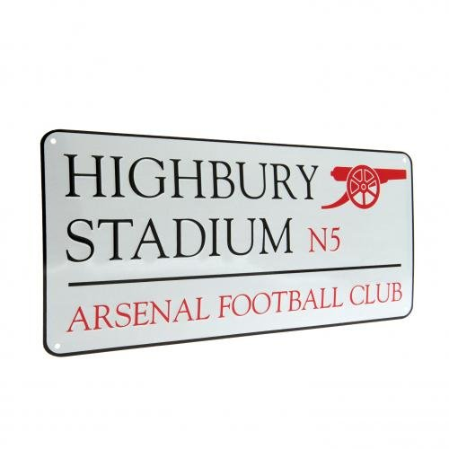 Official Arsenal FC Metal Street Sign Highbury - A Great Gift / Present For Men, Boys, Sons, Husbands, Dads, Boyfriends For Christmas, Birthdays, Fathers Day, Valentines Day, Anniversaries Or Just As A Treat For Any Avid Football Fan
