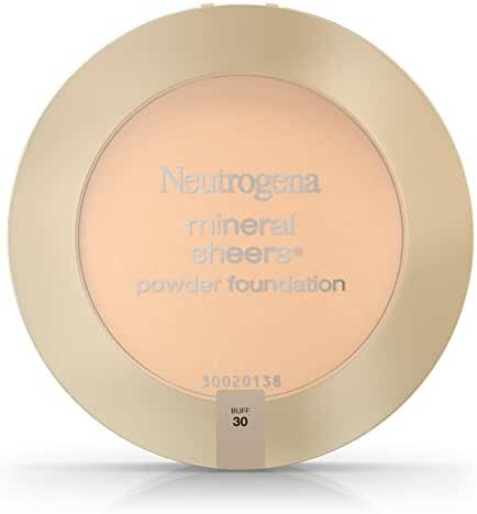 Neutrogena Mineral Sheers Compact Powder Foundation Spf 20, Buff 30, .34 Oz. (Pack of 2)