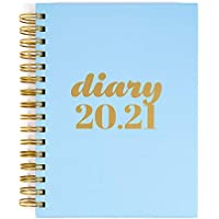 Financial Diary 2020-2021 | Day to a Page - A5 | Collins Scandi | Blue - Paperbased Hard Cover