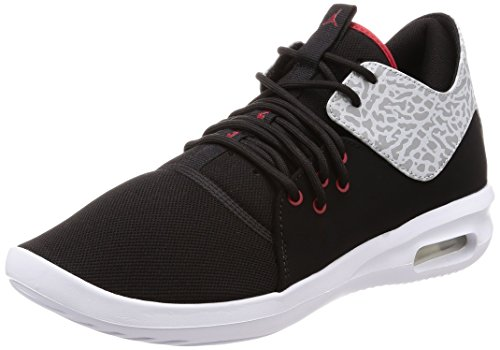 Jordan Mens AIR First Class Black Gym RED White Matte SILV Size 8.5 by Jordan