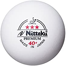 NITTAKU PREMIUM 3 STAR ITTF 40+ Plastic Table Tennis Balls, 9 pieces