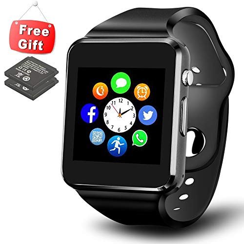 ANCwear Smart Watch for Android Phones, Bluetooth Smartwatch Touch Screen with Camera Sport Tracker Watch Compatible with Samsung LG iOS iPhone for Kids Men Women by ANCwear