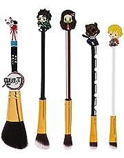 Professional Anime Makeup Brushes Set - 5pcs Cosmetic Anime Peripheral Okuno Cosplay Gift Makeup Brush Set For Women