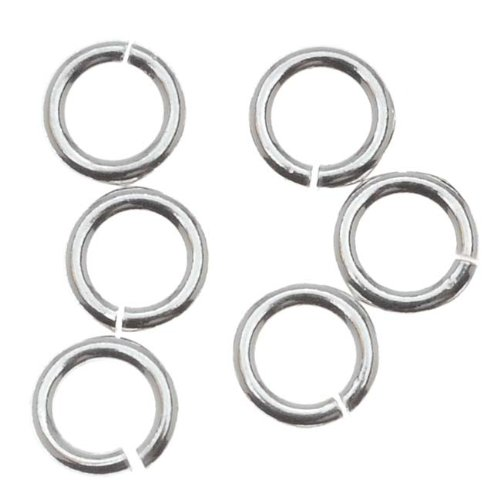 Beadaholique SS/JR40/5 10-Piece Sterling Open Jump Rings, 5mm, 18-Gauge, Silver (5mm Silver Sterling Rings Jump)