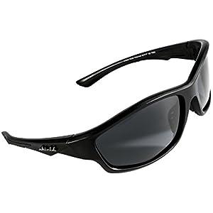 Shield Cloaks Polarized Sports Sunglasses for Running Fishing Cycling Baseball Tennis, Superlight Unbreakable TR90 Frame (Black, Smoke Black)