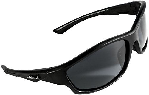 Shield Cloaks Polarized Sports Sunglasses for Running Fishing Cycling Baseball Tennis Superlight Unbreakable TR90 Frame (Black Smoke Black)