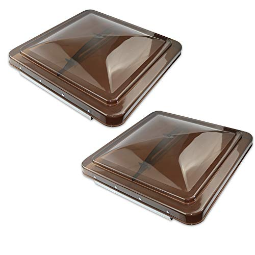 Vents Smoke Roof - Leisure Coachworks 2 Packs 14 Inch RV Roof Vent Cover Universal Replacement Vent Lid Smoked for Camper Trailer Motorhome (Smoked 2-Pack)