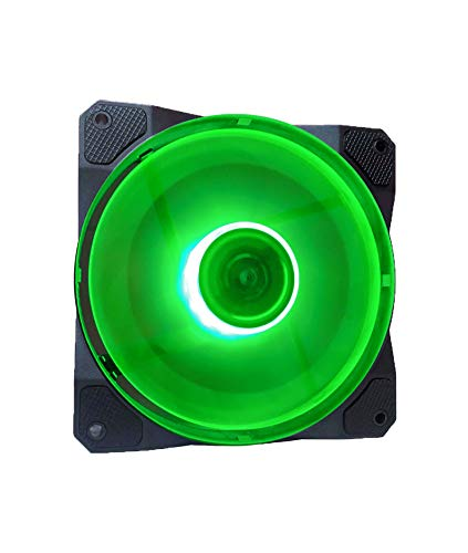 Ventilador APEVIA CO12L-GN Cosmos 120mm Green LED Ultra Sile