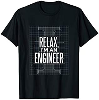 Cool Gift Relax I'am an Engineer very cool T shirt for Engineer Women Long Sleeve Funny Shirt / Navy / S - 5XL