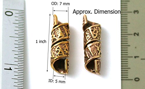 Lynnaround Bronze Norse Viking Celtic Beard Beads Rings