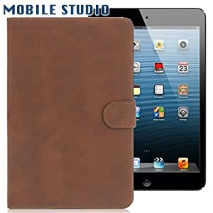 iPad mini ヴィンテージ風 レザースタンドケース ブラウン