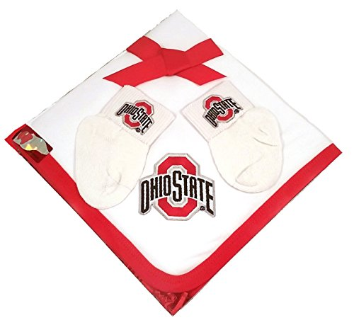 Ohio Cotton Onesie (Future Tailgater Ohio State Buckeyes Baby Receiving Blanket Socks Set)