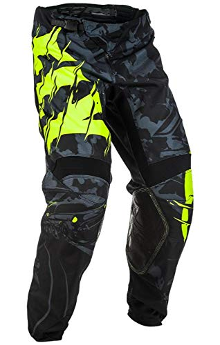 Fly Racing Men's Kinetic Outlaw Pants (Black/Hi-Vis, Size 32)