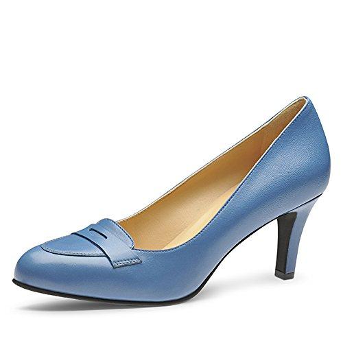 Para mujer Full Grain piel Azul Claro