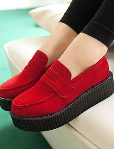 5 Bailarina Eu36 Zapatos us5 Cn39 Cn35 Mujer 5 Innovador Casual De Uk6 Uk3 Black Rojo Red Negro Exterior Plataforma us8 Piel Zq Oxfords Eu39 BnxIpxRd
